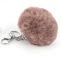 Стильный модный оригинальный приятный на ощупьмеховой брелок на сумку art. розовенький (100917)