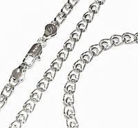 Набор: цепочка+браслет фирмы Xuping,цвет серебряный.Плетение: лав Цепочка: 44см  Браслет: 20 см. Ширина: 4 мм.