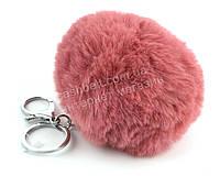 Стильный модный оригинальный приятный на ощупьмеховой брелок на сумку art. розовый (100915)