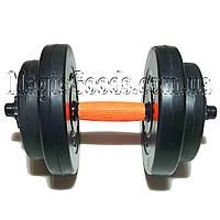 Гантель 8 кг наборная композитная в пластиковой оболочке Newt Rock Pro, фото 1