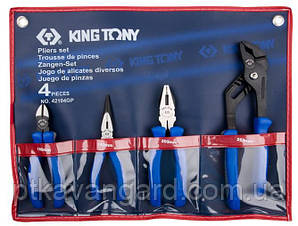 Комплект шарнирно-губцевого инструмента 4 пр King Tony 42104GP