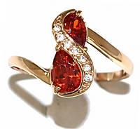 Кольцо фирмы Xuping.Цвет: позолота .Камни: белый и красный циркон. Есть 17 р. 18 р. 19,5 р. 19.5