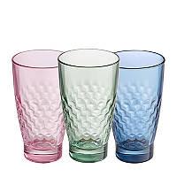 Набор разноцветных стаканов Libbey Olympea Smooth 370 мл.