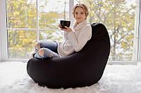 Купить чёрное кресло грушу из оксфорда