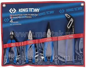 Комплект шарнирно-губцевого инструмента 4 пр King Tony 42104GP01