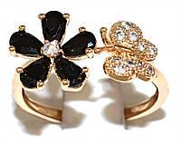 Кольцо фирмы Xuping.Цвет: позолота .Камни: белый и чёрный циркон . Есть  17 р. 18 р. 19 р.  17