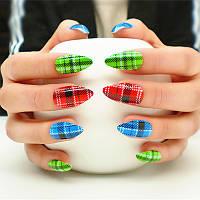 Набор накладных ногтей (25шт) Brandish scotland, Joyme с клеем и пилочкой