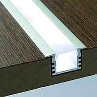 Профиль для LED ленты (2м) врезной глубокий (22/16х12мм) алюминий анодированный