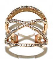 Кольцо фирмы Xuping. Цвет: позолота. Камни: белый циркон. Ширина кольца: 2 см. Есть 17 р. 18 р.  17