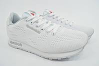 Женские белые текстильные кроссовки Reebok Рибок