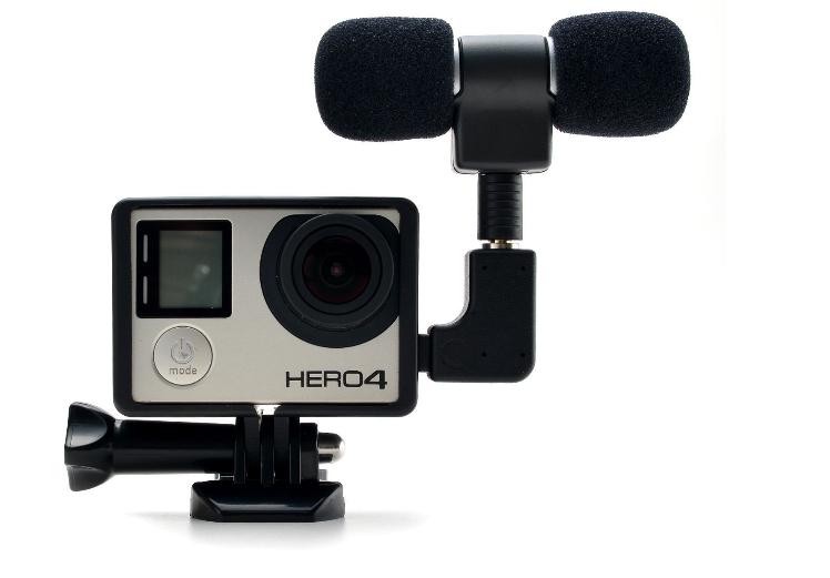 Стерео микрофон для GoPro Hero 3/3+/4 c рамкой
