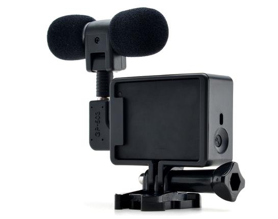 Стерео микрофон для GoPro Hero 3/3+/4 c рамкой, фото 2