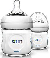 Бутылочка для кормления avent natural 2х125мл scf690/27