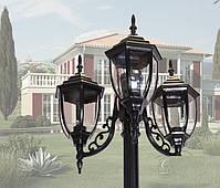 Светильник парковый DJ032-M3 BK  Е27 3*60W, фото 2