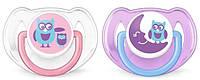 Набор детских пустышек для девочек avent scf197/22-2 classic 2 штуки