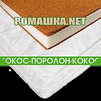 Матрас КПК 120х60 кокос поролон кокос 11 см детский в кроватку 3558 Белый А
