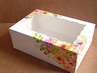 Коробка для капкейков 9 см, 6 шт., С окном, 17см х 25см х 9см