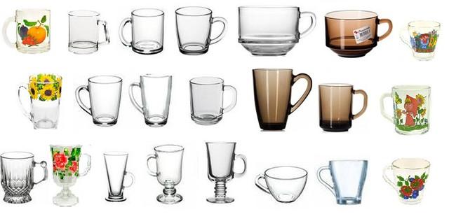 Кружки и чашки стеклянные