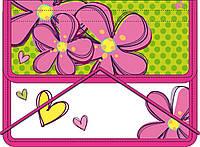 """491212 Папка для тетрадей пласт, на резинке  В5  """"Flowers"""""""