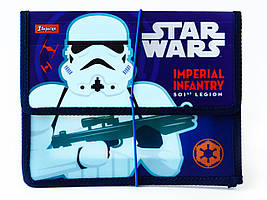"""491185 Папка для тетрадей пласт, на резинке  В5  """"Star wars"""""""