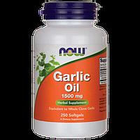 Чесночное масло / NOW Garlic Oil 250 softgels
