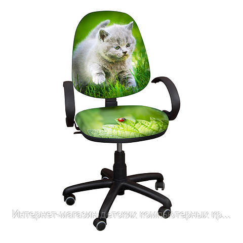 """Детское компьютерное кресло Поло хром РМ """"Котенок-5"""""""