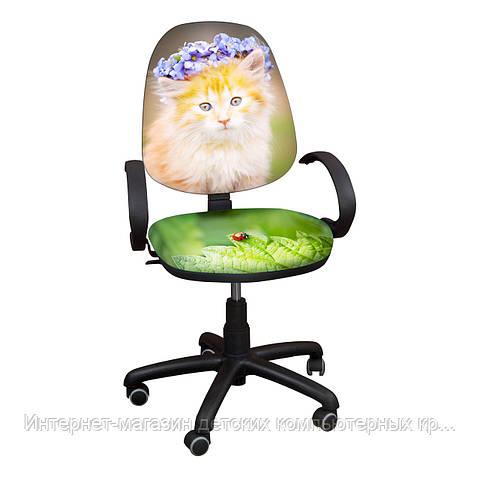 """Детское компьютерное кресло Поло хром РМ """"Котенок-6"""""""