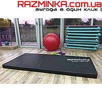 Мат спортивный гимнастический черный 200х100х10см (кожвинил)