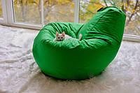 Кресло мешок груша зеленая из ткани оксфорд