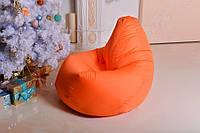 Бескаркасное кресло мешок оранжевое