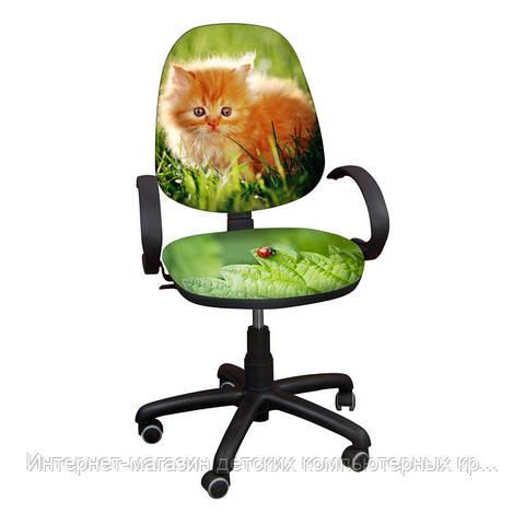 """Детское компьютерное кресло Поло хром РМ """"Котенок-10"""""""