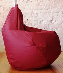 Кресло груша бордового цвета