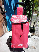 Сумка-тележка на 6-ти колесах со стульчиком