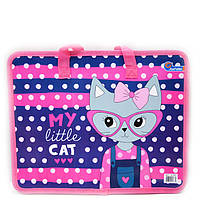 Сумка портфель на молнии с тканевыми ручками My Little cat