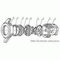 Комплект режущего инструмента мясорубки МИМ-80 с нерж. стали