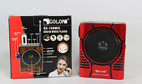 Радиоприёмник портативный GOLON под флешку и фонарем