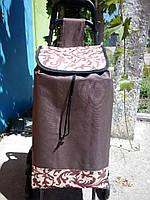 Сумка-тележка на 6-тиколесах со стульчиком