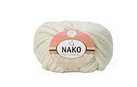 Nako Pure Wool Plus белый № 208