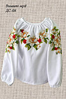 Детская заготовка сорочки на девочку ДС-08
