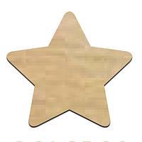 Высечка, Звезда 1, 6см, 4мм, фанера