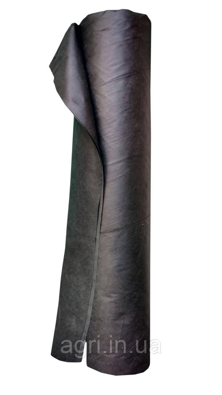 Агроволокно Агротекс 50 г/м² чёрное (1,6м*100м), мульчирующее от сорняков, для клубники