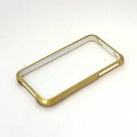 Бампер для Apple iPhone 4/4S, пластиковый, фигурный, NEW TOP, Золотистый /чехол/кейс/case/защита /айфон