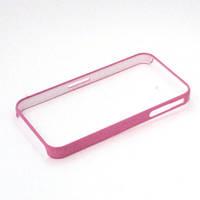 Бампер для Apple iPhone 4/4S, пластиковый, тонкий, NEW TOP, Розовый /чехол/кейс/case/защита /айфон