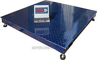 Платформенные напольные весы для склада ЗЕВС-Премиум ВПЕ-4 (1000х1000 мм), НПВ: 3000кг