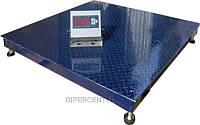 Платформенные электронные весы для склада ЗЕВС-Премиум ВПЕ-4 (1000х1000 мм), НПВ: 1000кг