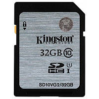 Карта пам'яті SDHC Kingston 32 GB SDHC Class 10 UHS-I Black