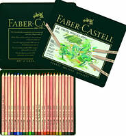 Пастельные карандаши PITT 24 цв. Faber Castell  металл. коробка  112124