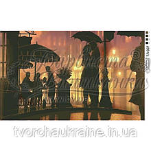 Бисерная заготовка для вышивки схемы-картины Свидание под дождем