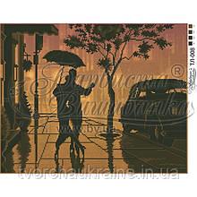 Бисерная заготовка для вышивки схемы-картины Фокстрот под дождем