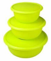 Набор мисок пластиковых с герм.крышками (3 шт.- 1,7л, 1,0л, 0,6л.)